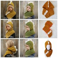 AMUSE 2 in 1 Dinosaur scarf cap Kids Infant Beanies Warm Kni...