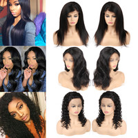 Straight Brazilian Human Hair Lace Wigs Deep Wave 360 Full L...
