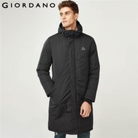 Giordano Men Down Jacket Men Reflective Printing Long Hooded...