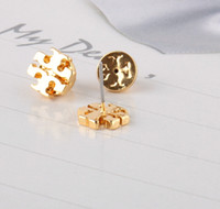 New arrival Brand name hollow round geometry Stud Earring in...