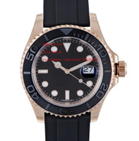 Luxury Wristwatches 40mm Black Dial 116655 18K Rose Gold Sap...
