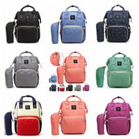 مومياء الأمومة الحفاض كيس حفاضات الطفل سعة كبيرة حقيبة السفر حقيبة الظهر انن التمريض حقيبة للOOA3370 رعاية الطفل 20PCS