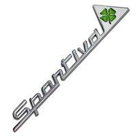 المعدن Sportiva رباعي الفصوص الخضراء دلتا سيارة الجانب الحاجز شعار شارة ملصق ل Alfa Romeo 4C 8C 156 166 159 Giulietta Spider GT