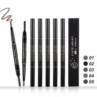 دروبشيبينغ 2018 العلامة التجارية الجديدة عالية الجودة ماكياج HANDAIYAN 5 ألوان مزدوجة الحاجب قلم الحواجب معززات