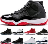2018 11 Kap ve Kıyafeti Balo Gece Yeni 11 s Basketbol ayakkabı erkekler Uzay Reçel Getirdi Concord siyah PRM Heiress Gibi 96 Spor eğitmenleri Sneakers