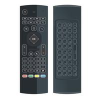 Vente chaude 2.4G Télécommande mx3 rétro-éclairage Mini Clavier Sans Fil Et souris air pour Android tv box