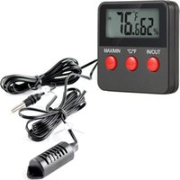 Elektronische thermometer Hygrometer voor incubator reptielenmonitor digitale temperatuur en vochtigheidsmeter tester