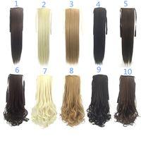 Synthetische Pferdeschwanz-Clip in den Haarverlängerungen Pony-Schwanz 50 cm 90g synthetische geradkautige Haare mehr 8 Farben optional fzp24