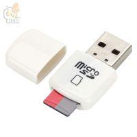 يسهل حملها ميني USB قارئ بطاقة رخيصة أرخص صافرة USB 2.0 ذاكرة فلاش تي TFcard / مايكرو قارئ بطاقة SD ، TF بطاقة محول بالجملة