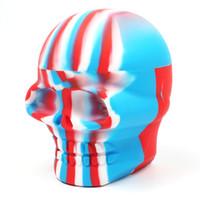 Balmumu Silikon Kavanozlar 500ML kafatası şekli yapışmaz Silikon kurulamak Konteyner Kavanoz Yapışmaz Silikon Konteyner Kutusu