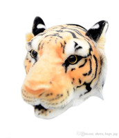 Fashion 3D Tiger Head Printed Waist Belt Bags White Yellow S...