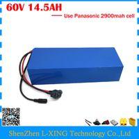 Taxa aduaneira livre 1800 W 60 V 14.5AH bateria De Lítio 60 V 14.5AH uso de bateria de bicicleta elétrica Panasonic 2900mah célula 30A BMS
