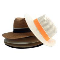 98a10b43f7793 New Arrival. Fashion Women Straw Wide Brim Sun hat Woman Summer Fedora Cap  Sunhat Trilby panama ...