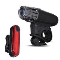 USB دراجة الجبهة الضوء USB القابلة لإعادة الشحن الدراجة الخفيفة الدراجات الذيل ضوء مجموعة دراجات المصباح الخلفي أضواء الخلفية 320 التجويف مصباح
