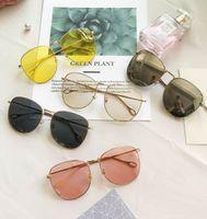 8438cc2db7bf4 2018 fotos oceano, senhoras óculos de sol, oval, óculos de sol, novas  modas, tendência européia e americana, retro, grande quadro, design de  marca, ...