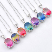 12Pcs Lot Luckyshine Vintage Mix Color Ellipse Bi colored To...