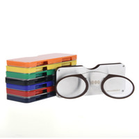 Guanhao Occhiali da lettura magnetici con custodia per naso Clip rotonda montatura da vista diottica Occhiali da vista Uomo Donna Occhiali portatili