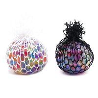 Антистрессовый Радуга LED Светящийся Виноградный Мяч Squishy Телефонные Ремни Облегчение Настроения Ручной Запястье Сожмите Игрушки Смешные Декомпрессионные Игрушки подарок