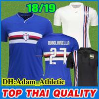 d325221dc5af8 Camiseta de fútbol de Sampdoria 2018 2019 DEFREL LINETTY PRAET camiseta de  fútbol de visitante blanca