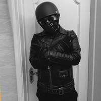 @sportsneakers manteaux de moto pour homme BACL avec des ailes A FAST, LIVE combinaison de course Vintage Veste en cuir véritable