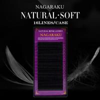 Wholesale Nagaraku 10ケースセット高品質ミンクまつ毛延長個別まつげの自然なまつげ偽の偽のまつげ無料Shippin