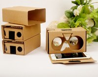 Google 2 2.0 Cardboard Glasses DIY 3D VR Boxes Realidad virtual V2 Cartón Google Google para iPhone 7 6s 6 más Samsung s7 s8