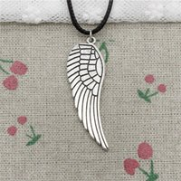 New Fashion Tibetan Silver Pendant angel wings 47*15mm Neckl...
