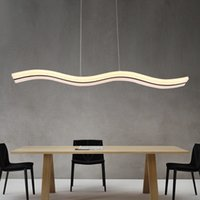 Modern wave LED pendant lamp S line adjustable hanging lamp ...