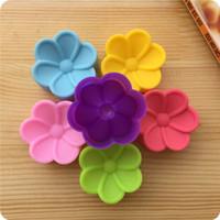 5см Бегония цветы Shaped прессформы конфеты силикона DIY мыло формы торт плесень Fondant торт украшая инструменты ZA5814