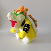 Hot ! Super Mario Bros Yellow Bowser Koopa Plush Stuffed Dol...