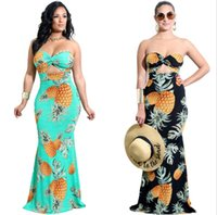 2018 summer sexy strapless maxi dress Traditional African Cl...
