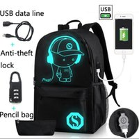 New Design Men Gym Sports Bag Night Glow Bag WomenUSB backpa...