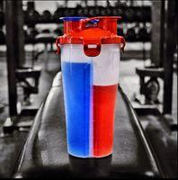 المزدوج البروتين مسحوق شاكر زجاجة الرياضة زجاجة اللياقة البدنية خلاط المياه زجاجة ببا خالية من رشاقته دائم قوي مانعة للتسرب
