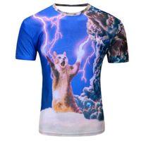Nueva galaxia espacio 3D camiseta encantadora tapas divertidas camisas de manga corta de verano para hombres