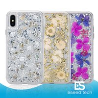 For iPhone X Case Karat Petals Made with Real Flowers Slim T...