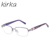Kirka Moda Feminina Marca Designer de Metal Olho Óculos Gracioso Metade  Quadro Quadrado Óculos Femininos Óculos 7452dadc05