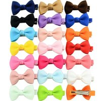 Solid Ribbon Hairclip Bow Kids Bowknots Hair Clips Donna Forcelle Ragazze Accessori per capelli Decorazioni Regalo per bambini Baby Photo Puntelli Jewerly