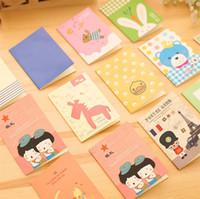 10 Unids / lote Mini Bloc de Notas de Dibujos Animados Animal Viajando Papelería al por mayor pequeño diario del cuaderno panda de dibujos animados Bloc de notas cara suave festival de regalo
