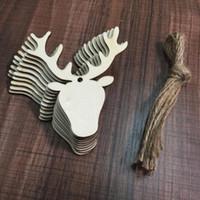 Asılı Kolye Noel Dekorasyon Noel Hediye El Sanatları Ahşap kartları Yılbaşı Ağacı Süsler Ev dekorasyon kolye FP15