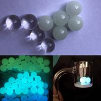 Neue 6mm 8mm Quartz Terp Tupfen Perlen einfügen Leucht leuchtende blau grün klare Quarz Perle für Quartz Banger Nägel