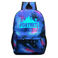 Fortnite cartoon student School Bag Noctilucous Luminous Bac...