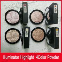 العلامة التجارية اللاكتورية ماكياج المنجم منجم مسحوق مؤسسة maquillaje 4 اللون الوجه برونزر تسليط الضوء على كفاف إعداد مسحوق شحن مجاني