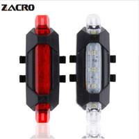 Zacro велосипед свет перезаряжаемые светодиодные задние фонари USB задний хвост безопасности предупреждение Велоспорт свет портативный вспышка света супер яркий