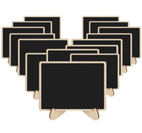 Wood Mini Chalkboards Signs with Support Easels, Small Recta...