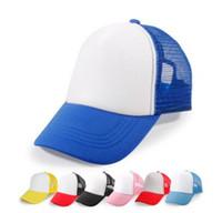 Hochwertige einfache Kinderbaseballmützen-kundenspezifisches Logo scherzt leere Fernlastfahrer-Hüte justierbare Hysteresen-Fernlastfahrer-Kappen Strapback-Sommer-Sonnenblende