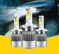 슈퍼 밝은 2 단위 55W COB 주도 자동차 헤드 라이트 칩 전구 높은 / 낮은 빔 H1, H3, H4, H7, H8, H9, H11,9005,9006,9012