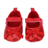 Baby Mädchen Infant Erster Wanderer Pailletten Bling Hookloop Schuhe Säuglings Kleinkind / Herbst Weiche Sohle Boden Vor Wanderer Schuhe