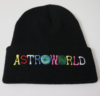 Astroworld Örme Kafatası 8 Renkler Moda Şapka Hip Hop Harf İşlemeli Beanie Unisex Kış Caps Caps