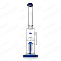 Mushroom design glass bong distinctive glass water pipe 15 inches rod tire for daily use smoking 18mm female joint