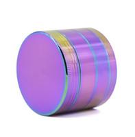 50mm de Diâmetro Rainbow Metal Moedor De Tabaco Moedores de Erva 4 Camadas de Liga de Zinco Moedor De Ervas Metálico Rainbow Grinder 5916IB